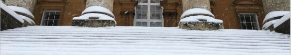 Winter on the steps of College